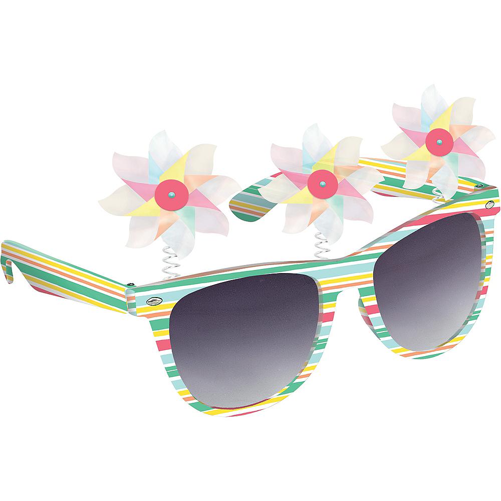 Adult Iridescent Pinwheel Sunglasses Image #1