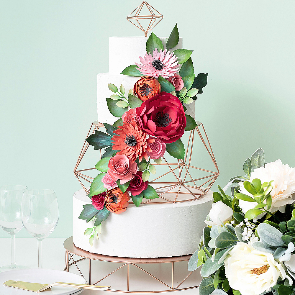 Sweet Tooth Fairy Rose Gold Geometric Tiered Cake Stand 7pc Image #1