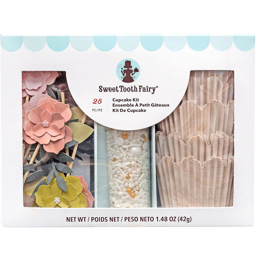 Sweet Tooth Fairy Flower Cupcake Decorating Kit for 12 Image #1
