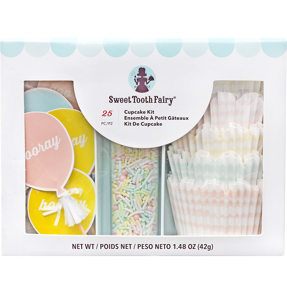 Sweet Tooth Fairy Hooray Cupcake Decorating Kit for 12 Image #1