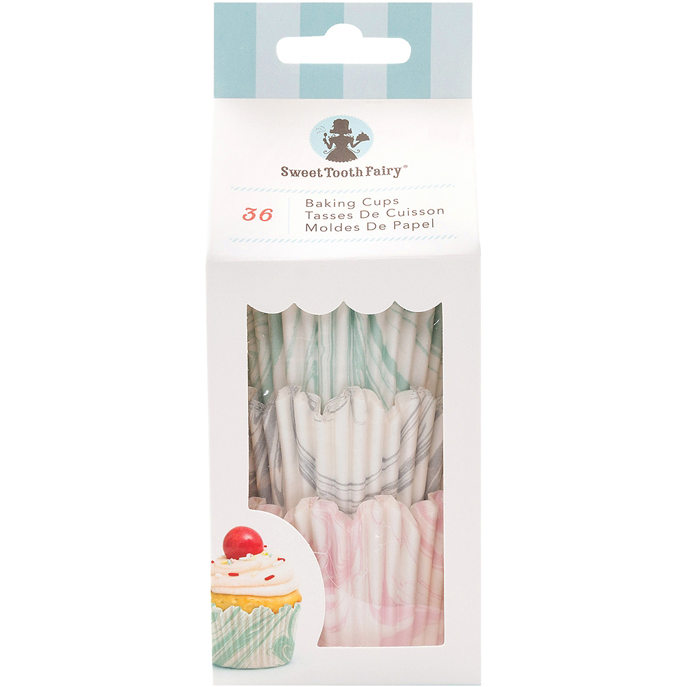 Sweet Tooth Fairy Marble Baking Cups 36ct Image #1