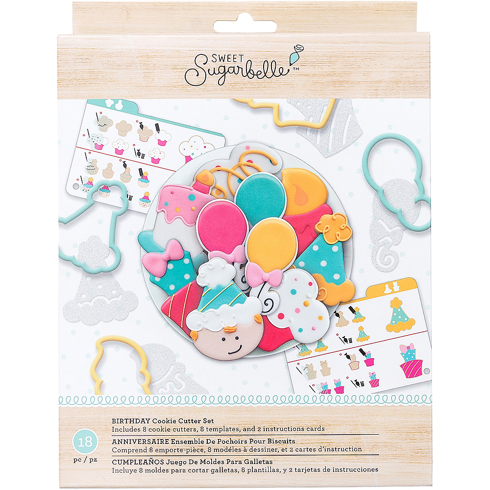 Sweet Sugarbelle Birthday Cookie Cutter Set 18pc Image #1