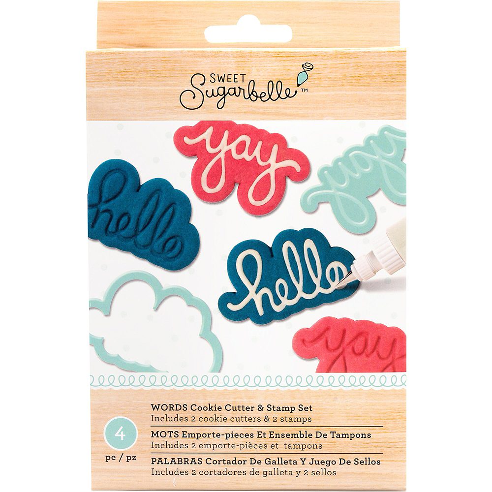 Sweet Sugarbelle Words Cookie Cutter & Stamp Set 4pc Image #1