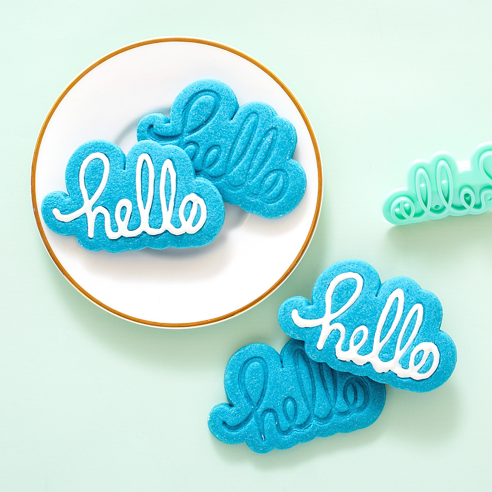 Sweet Sugarbelle Words Cookie Cutter & Stamp Set 4pc Image #2