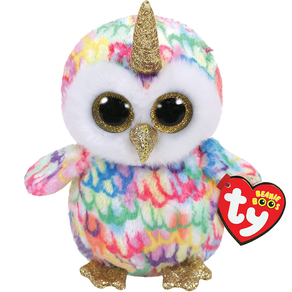 Nav Item for Enchanted Beanie Boo Unicorn Owl Plush Image #1