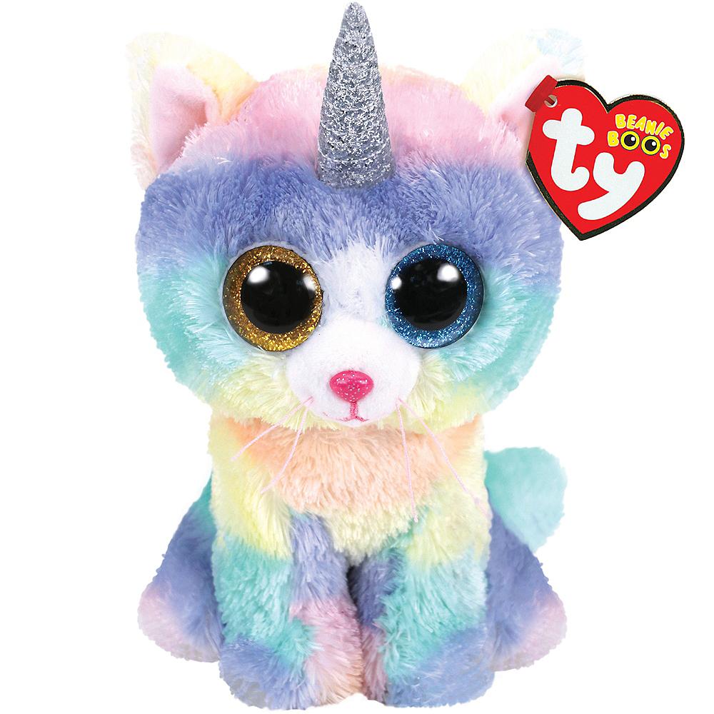Heather Beanie Boo Unicorn Cat Plush 4in x 6 1 2in  dae006856c8