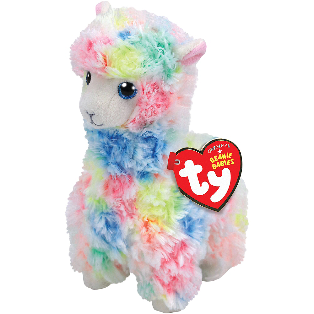 Lola Beanie Babies Multicolored Llama Plush Image #1