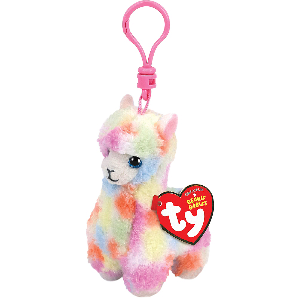 Nav Item for Clip-On Lola Beanie Babies Llama Plush Image #1