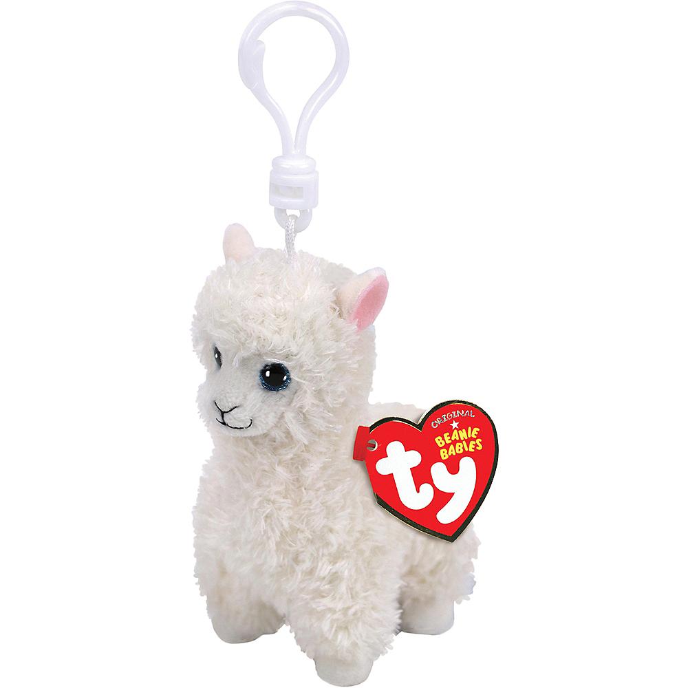 Clip-On Lily Beanie Babies Llama Plush Image #1
