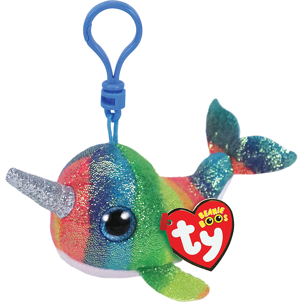 Nav Item for Clip-On Nori Beanie Boo Narwhal Plush Image #1
