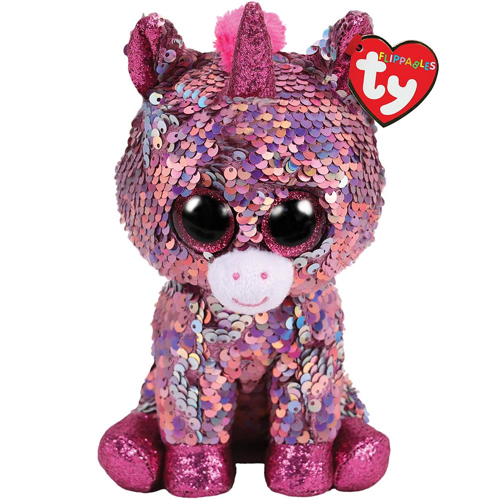 Mini Sparkle Flippables Unicorn Plush Image #1