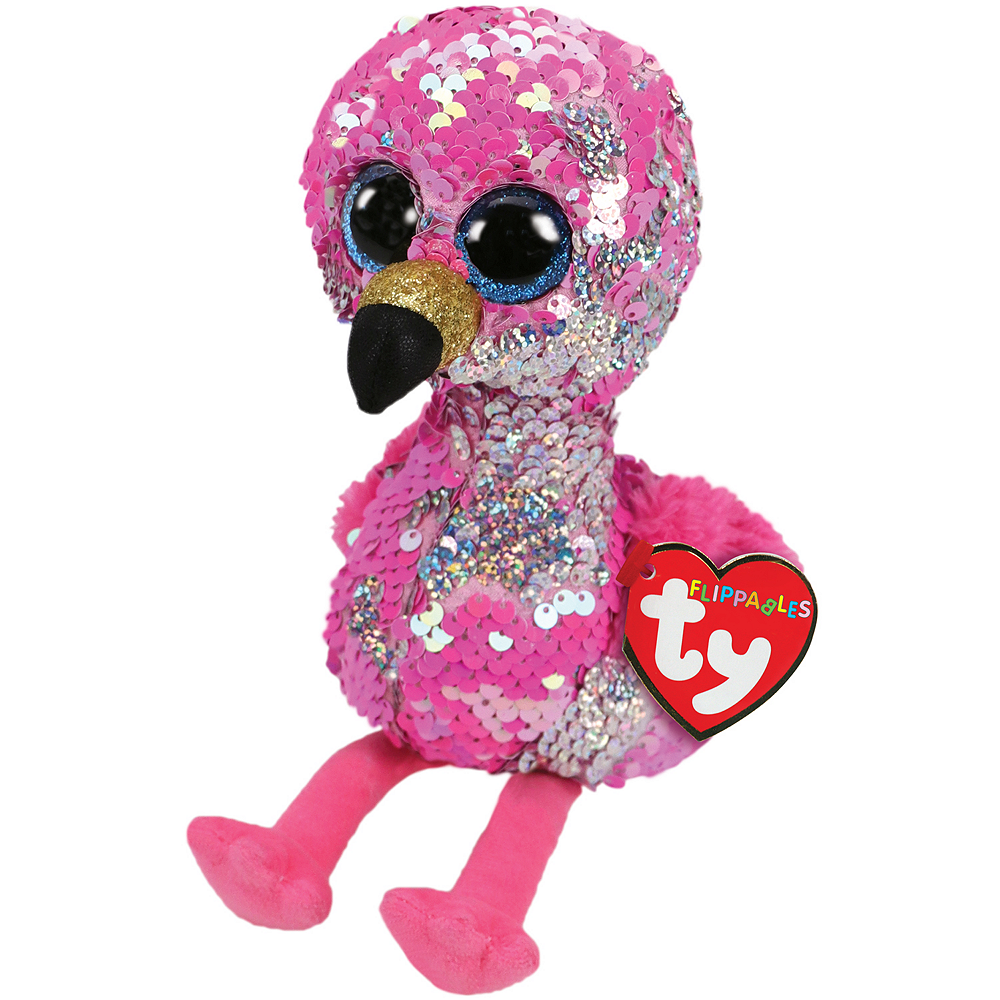 Mini Pinky Flippables Flamingo Plush Image #1