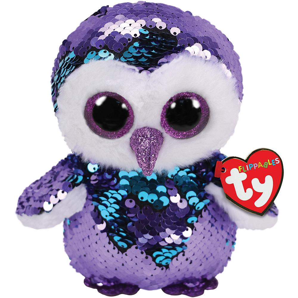 Mini Moonlight Flippables Owl Plush Image #1