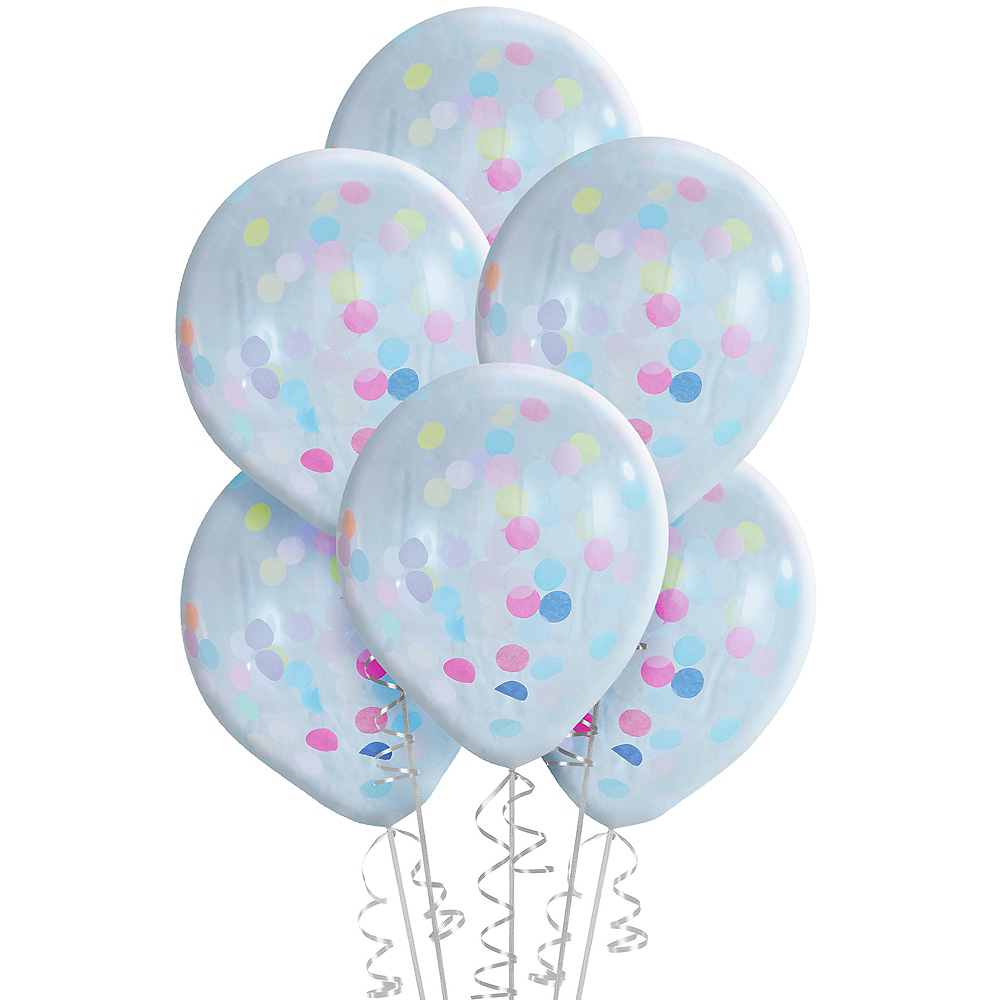 Nav Item for Ginger Ray Pastel Confetti Balloons 5ct Image #2