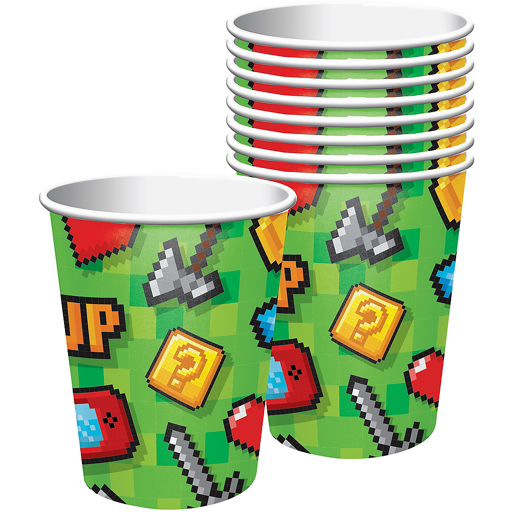 Video Game Cups 8ct Image #1