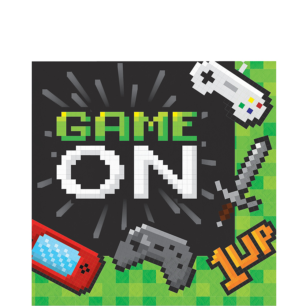 Video Game Game On Lunch Napkins 16ct Image #1