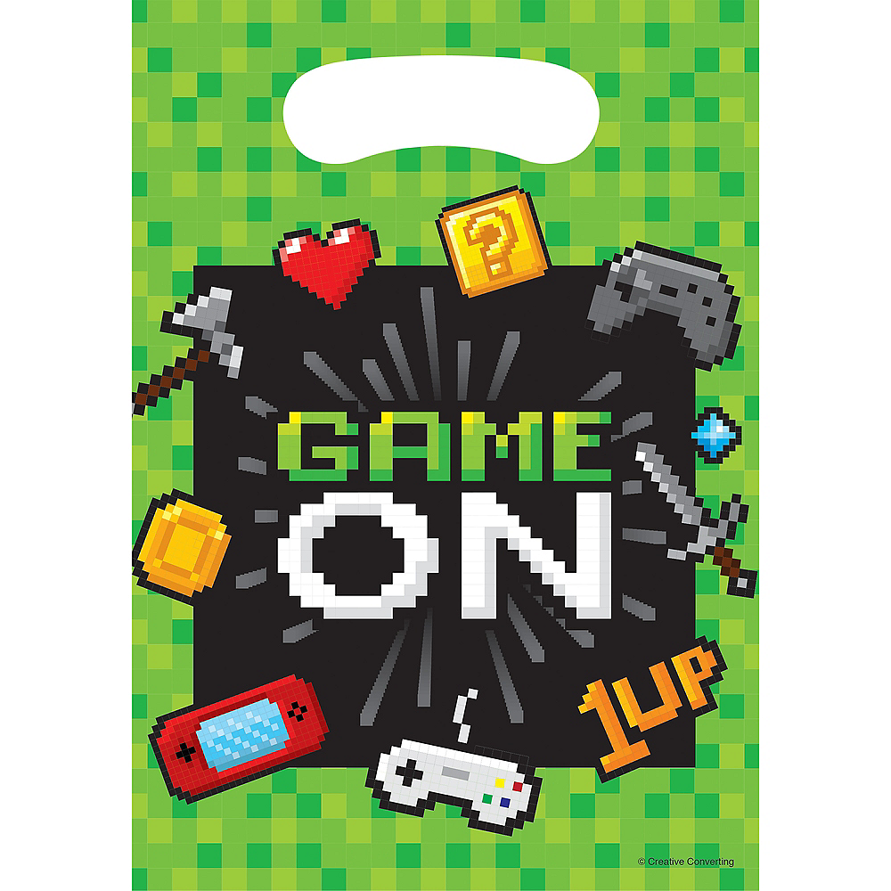 Video Game Favor Bags 8ct Image #1