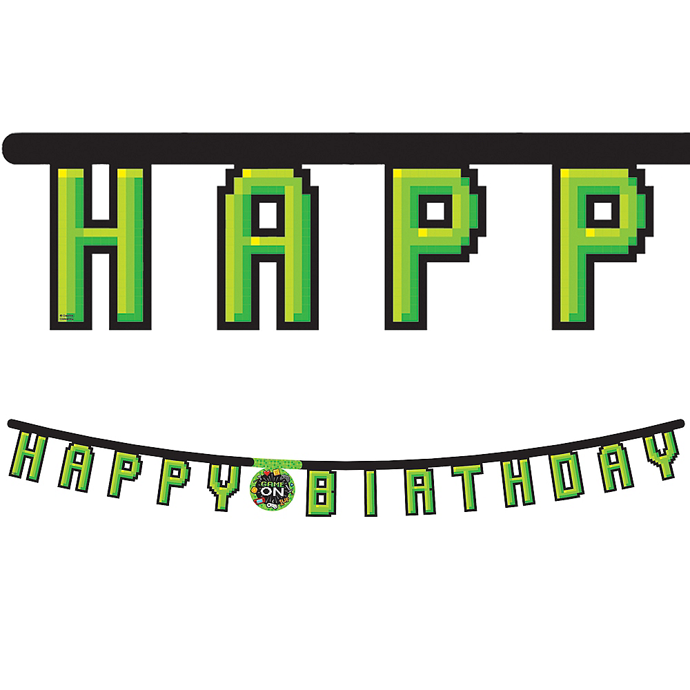 Video Game Birthday Banner Image #1