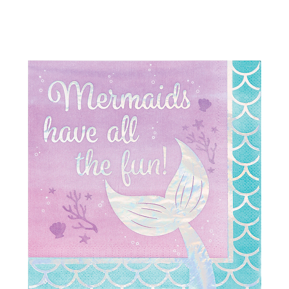 Shimmer Mermaid Fun Lunch Napkins 16ct Image #1