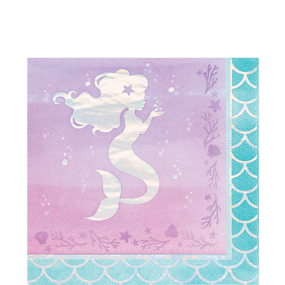 Shimmer Mermaid Lunch Napkins 16ct Image #1