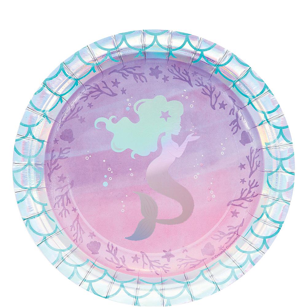 Shimmer Mermaid Dessert Plates 8ct Image #1
