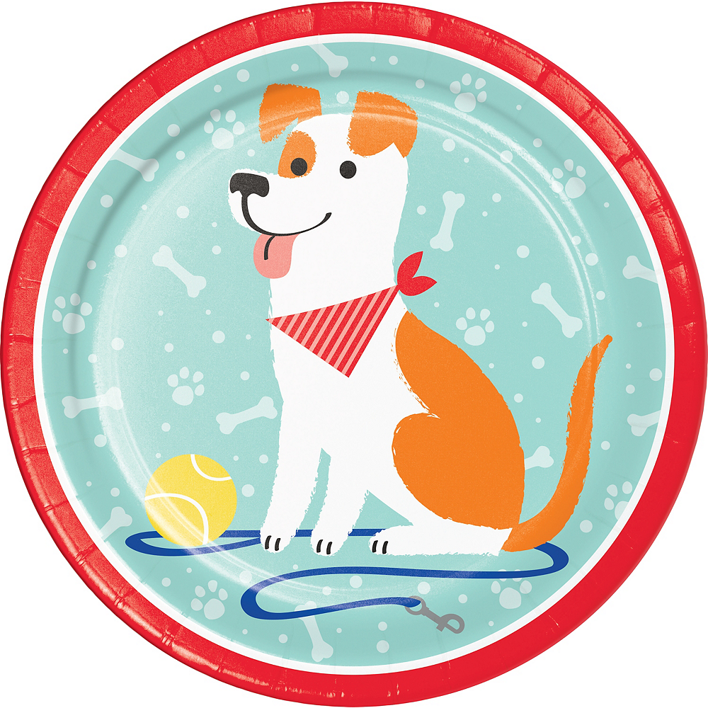 Dog Lunch Plates 8ct Image #1
