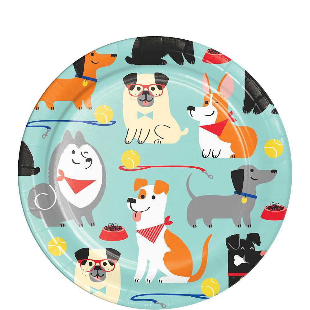 Dog Dessert Plates 8ct Image #1