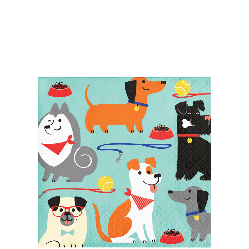 Dog Beverage Napkins 16ct Image #1