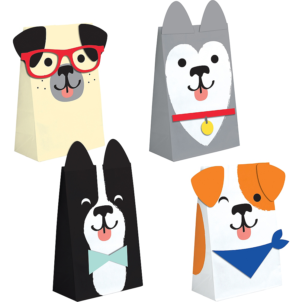 Dog Party Treat Bags 8ct Image #1