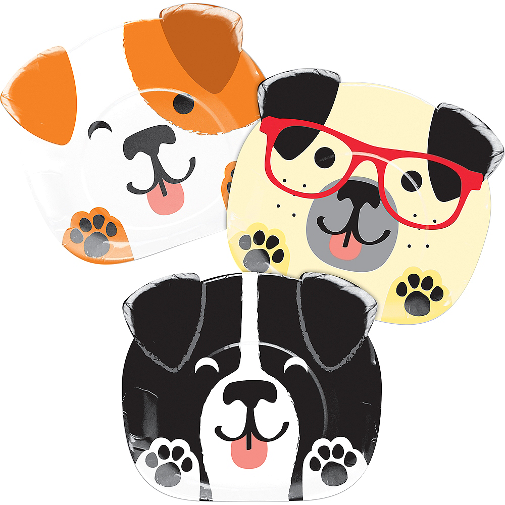 Dog-Shaped Lunch Plates 8ct Image #1