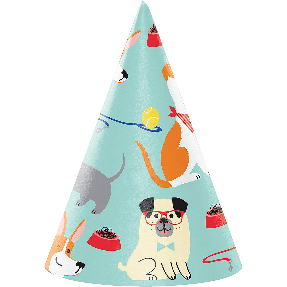 Dog Party Hats 8ct Image #1
