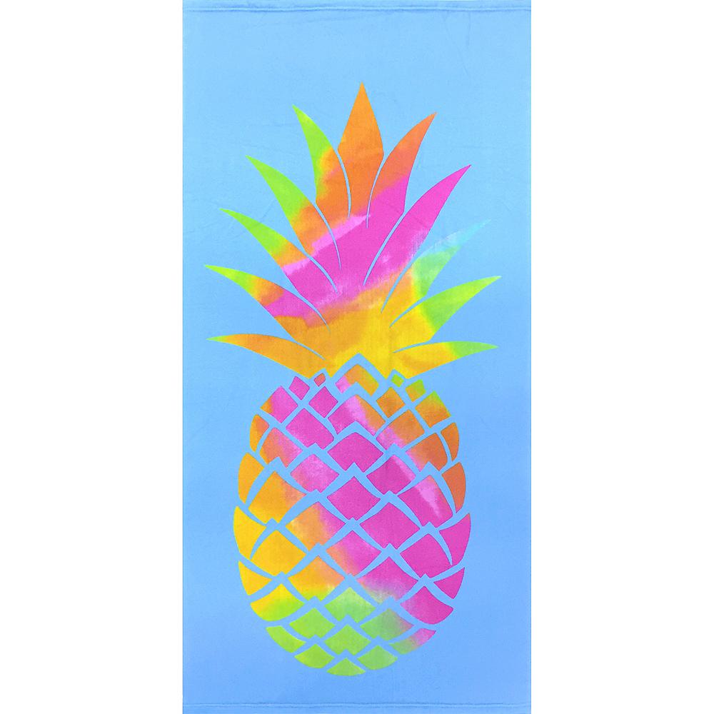 Colorful Pineapple Beach Towel Image #1