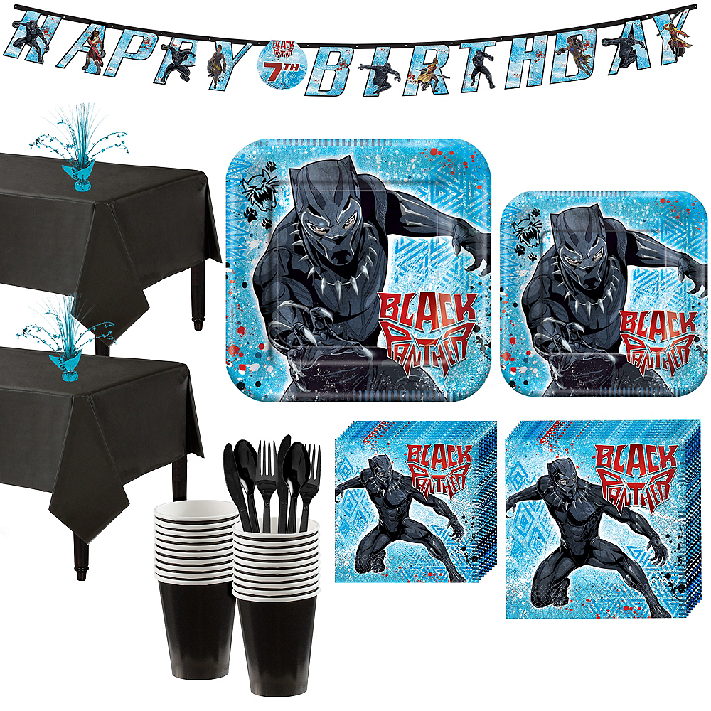 Black Panther Party Kit for 16 Guests Image #1