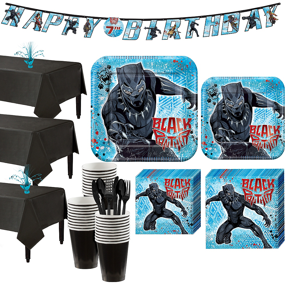 Black Panther Party Kit for 24 Guests Image #1