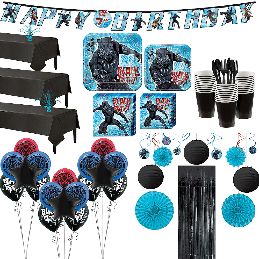 Ultimate Black Panther Party Kit for 24 Guests Image #1
