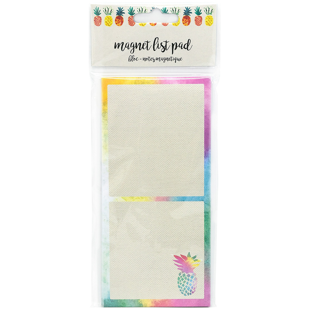Colorful Pineapple Magnet List Pad Image #3