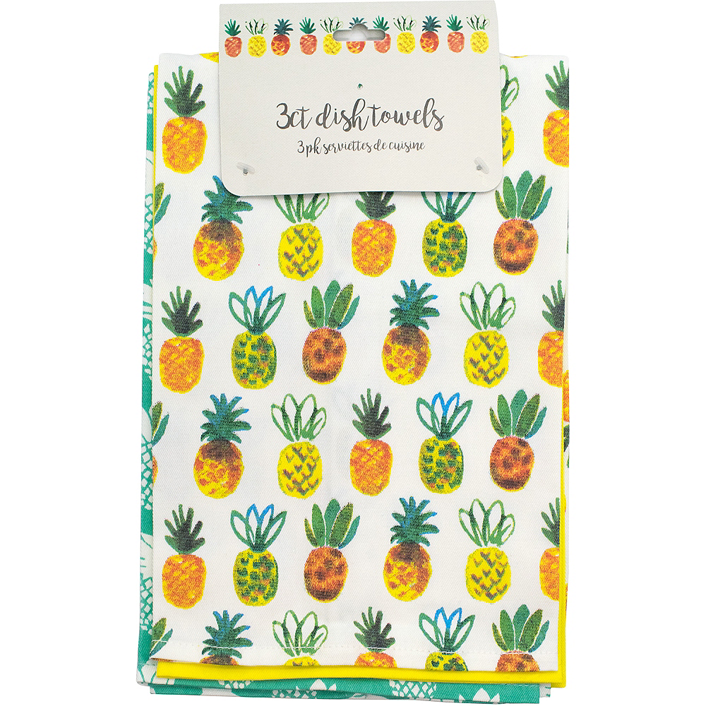 Pineapple Kitchen Towels 3ct Image #1