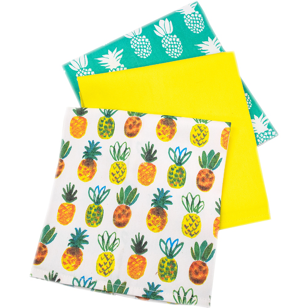 Pineapple Kitchen Towels 3ct Image #2