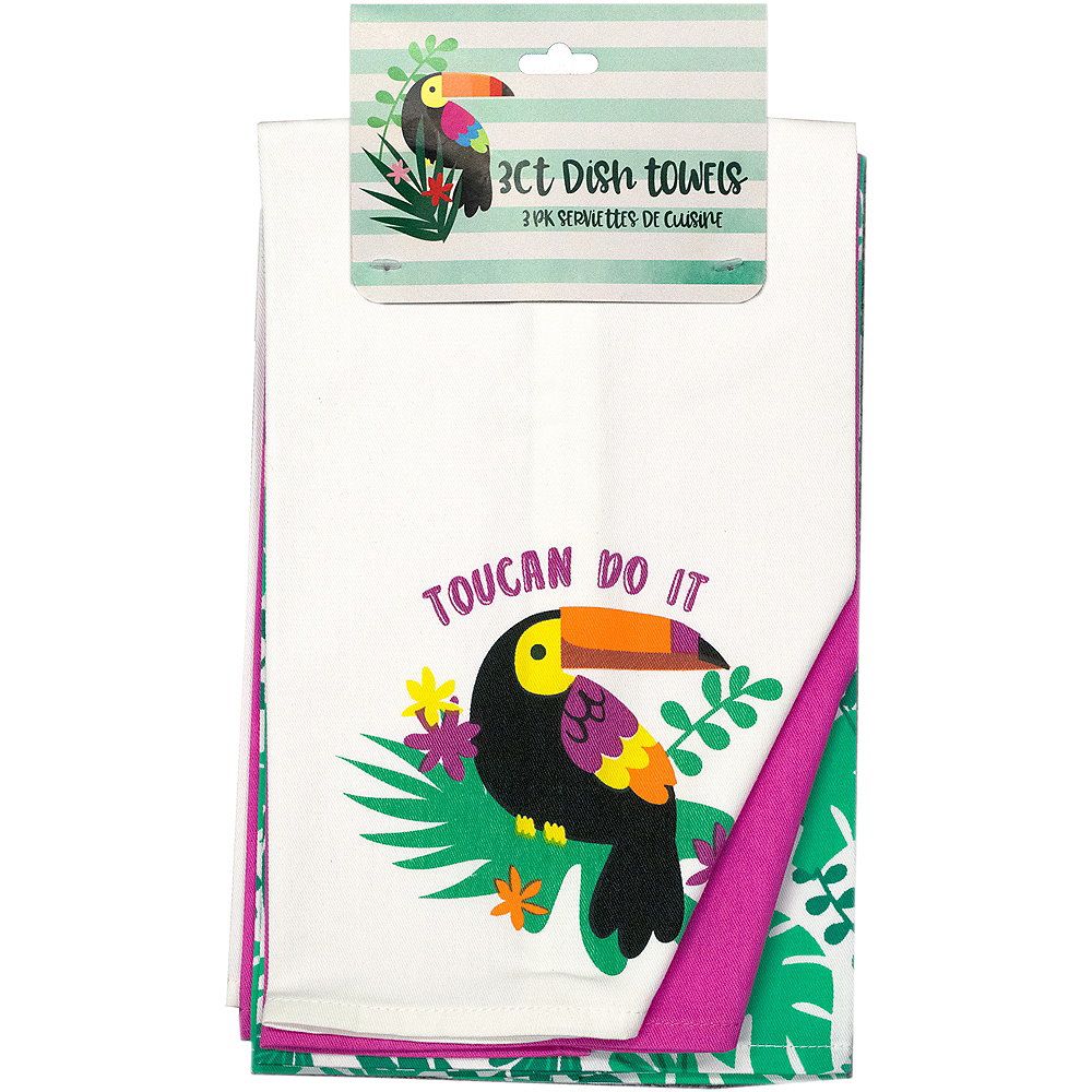 Toucan Kitchen Towels 3ct Image #1