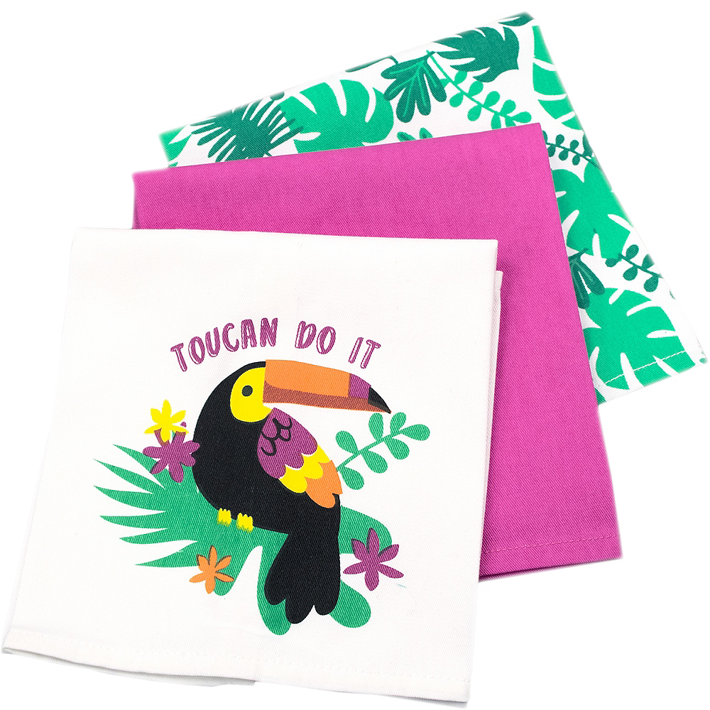 Toucan Kitchen Towels 3ct Image #2