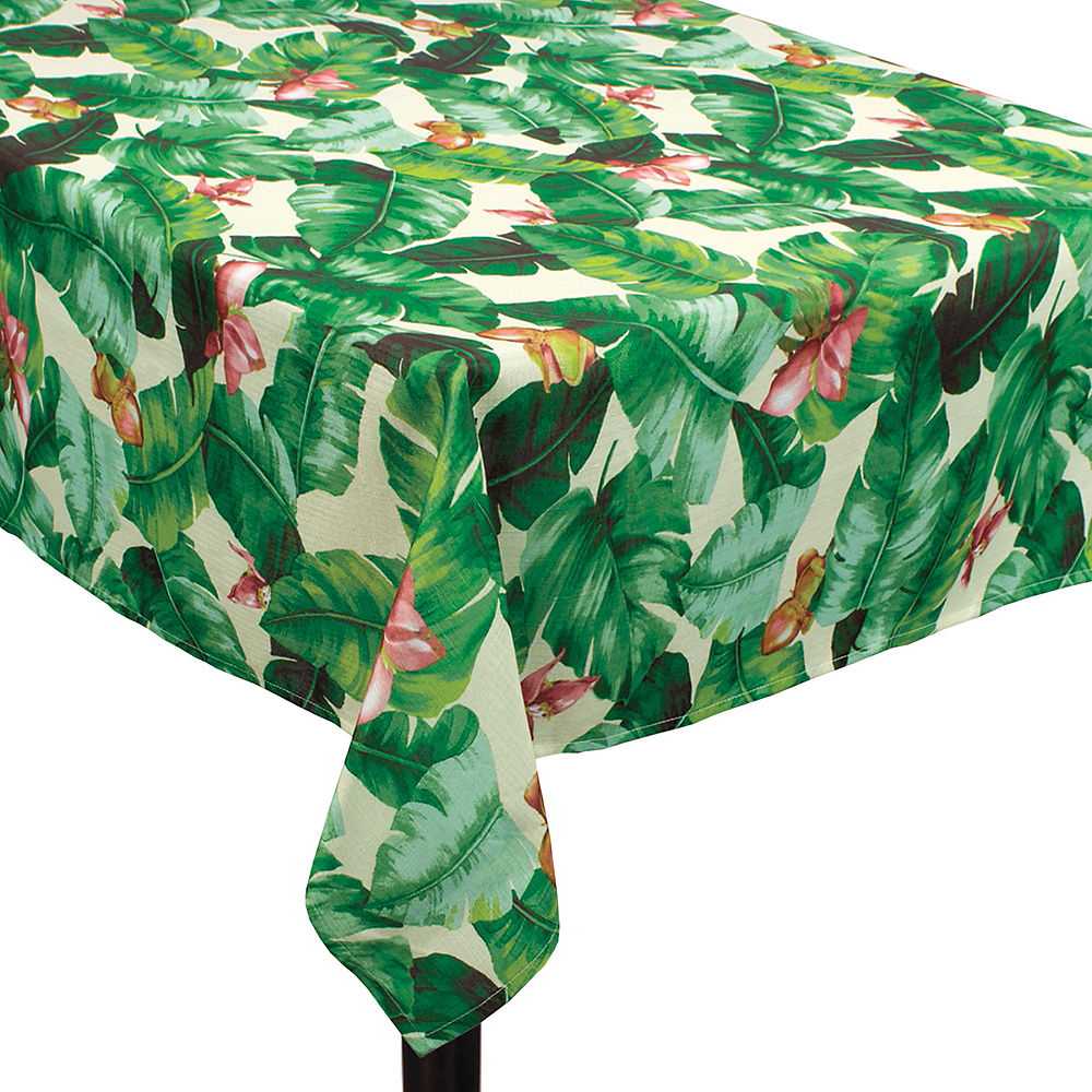 Tropical Jungle Fabric Tablecloth Image #1