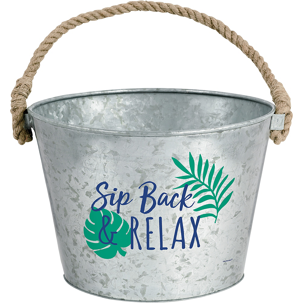 Tropical Jungle Galvanized Bucket Image #1