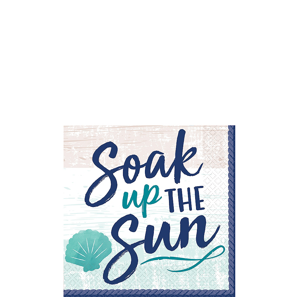 Sea Sand Sun Beverage Napkins 16ct Image #1
