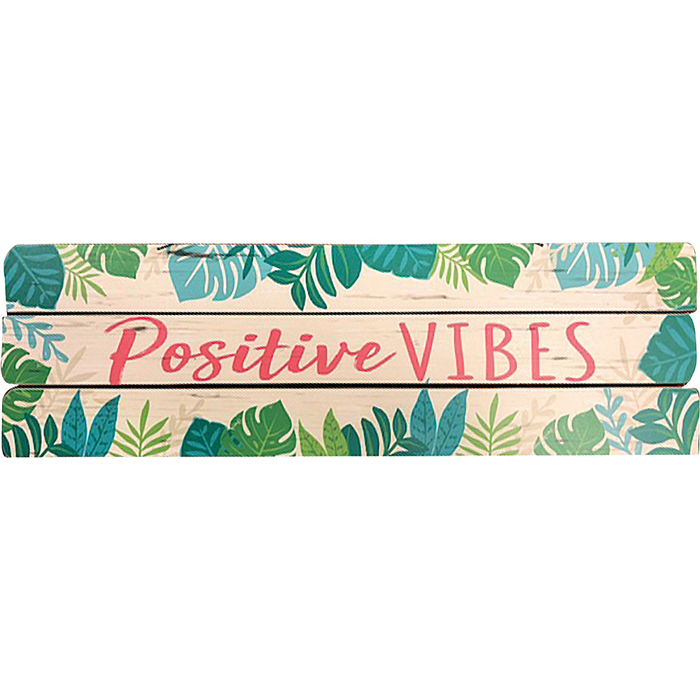 Positive Vibes Block Sign Image #1