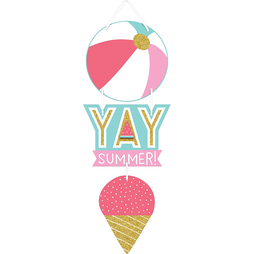 Yay Summer Stacked Sign Image #1