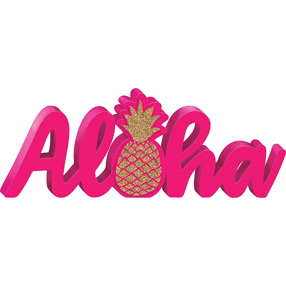 Aloha Block Letter Sign