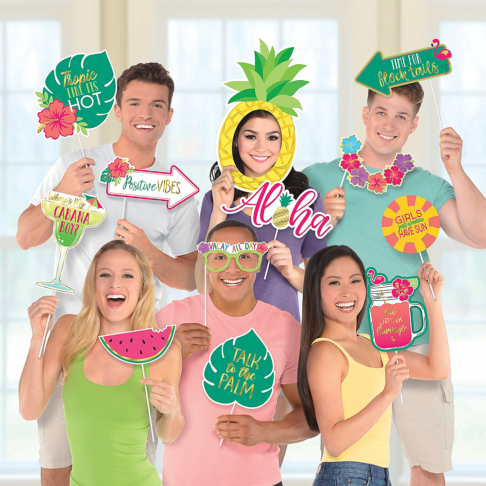You Had Me at Aloha Photo Booth Props 12ct Image #1
