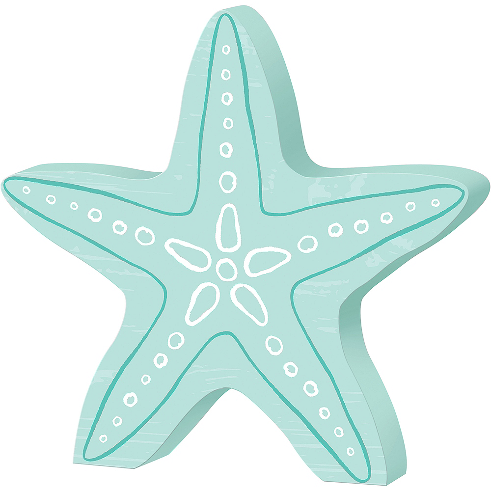 Starfish Block Sign Image #1