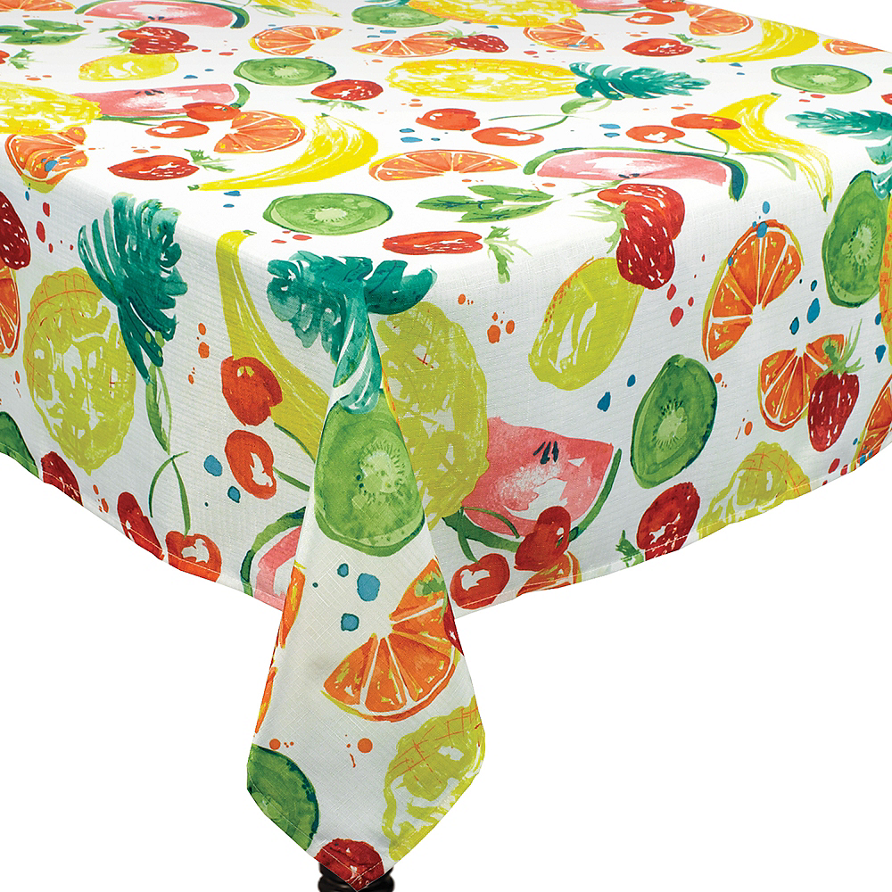 Tooty Fruity Fabric Tablecloth Image #1