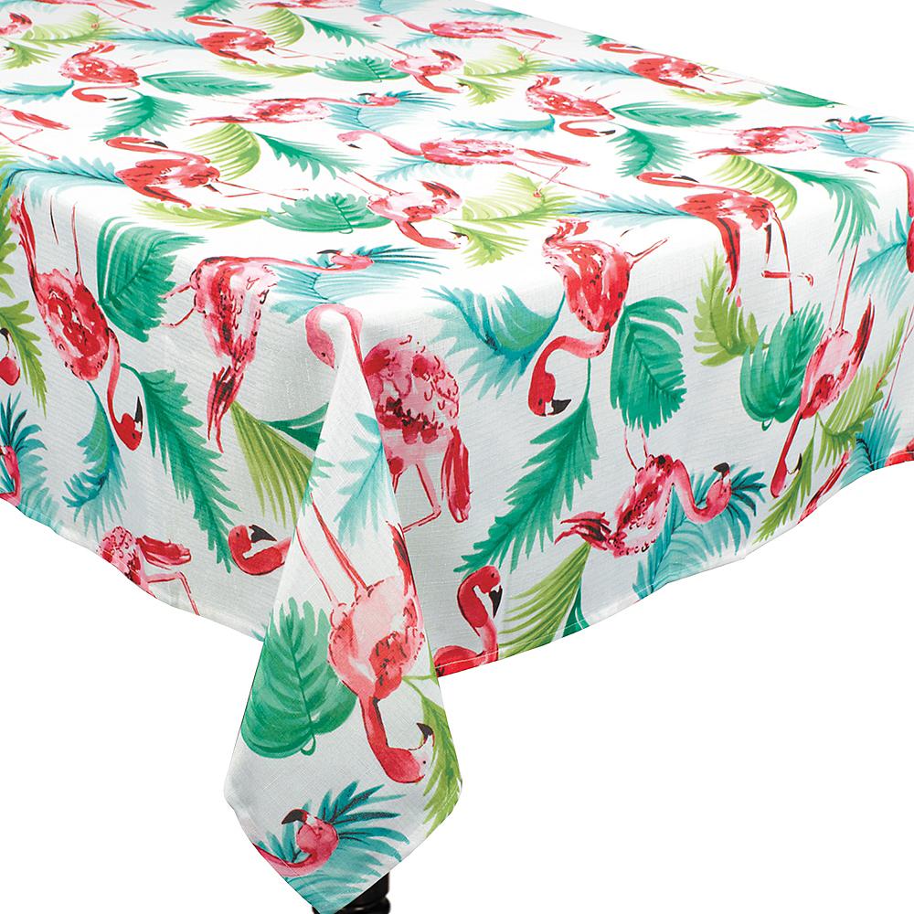 Flamingo Fabric Tablecloth Image #1